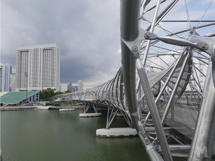 Helix Bridge, Singapur